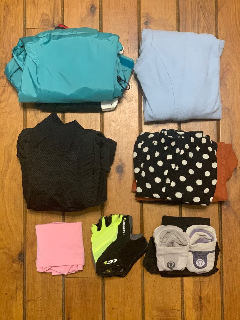 cycling packing list